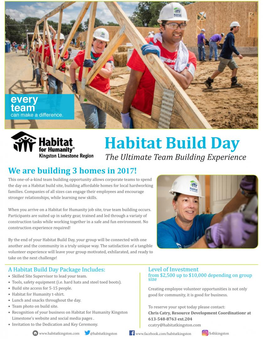 my experience while working with habitat for humanity I've been a director on the national board of habitat for humanity for almost two years now, and it's been a rewarding experience in many ways i get to work with some fantastic individuals from across canada who are committed to importance of providing a 'home' for children through home ownership.
